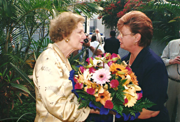 Mrs Thatcher on Tenerife